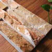依君天然毛边15cm*60cm自然面背景墙文化石 隔音环保石材