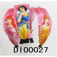 供应迪士尼     公主图案   精美头扣   儿童发饰DI00027