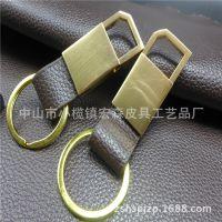 真皮小礼品汽车钥匙扣 个性时尚促销赠品 高端金属男士汽车腰带扣