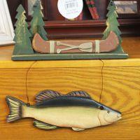 现货混批 zakka杂货雕刻木鱼挂件 创意木质工艺品家居墙上装饰品