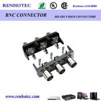 仁昊BNC1*3 单排多孔 90°射频同轴连接器