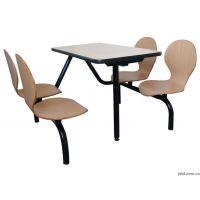 校园食堂板式桌椅批发 快餐厅四人位连体餐桌椅 运达来直销 定做