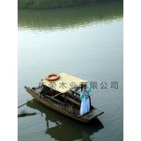 庆荣木业供应单篷船情侣观光船摇橹船仿古木船小渔船