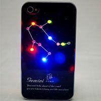 厂家供应LED感应苹果手机外壳套ipone4来电闪手机外壳彩绘加工
