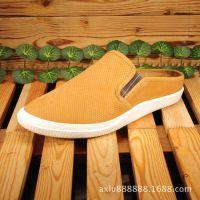 厂家直销2015夏季新款时尚韩版半拖鞋休闲日常鞋包头潮流男鞋品牌