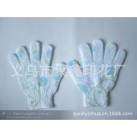 义乌丝网印花厂提供手套印花/烫画/围裙印花加工