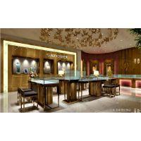 不锈钢珠宝展示柜设计、店面装修设计、品牌VI设计