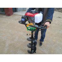 林木种植打孔机 四冲程挖穴机 四轮车带挖坑机价格