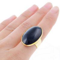 新款 速卖通 欧美 外贸饰品批发 镀金 椭圆 玛瑙 开口 合金戒指