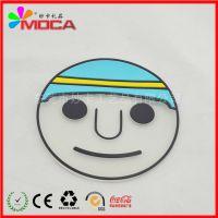 东莞杯垫工厂定做批发PVC软胶杯垫创意卡通塑胶杯垫