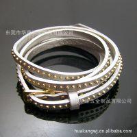 供应韩版饰品 层次缠绕式皮革真皮手链手镯手环