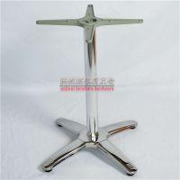 供应不锈钢桌子桌脚中西餐厅不锈钢台脚十字形不锈钢餐桌桌脚