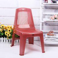 特隆厂家直销批发塑料简易家具 塑料PP厚靠背椅子 塑料凳子