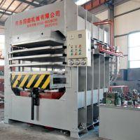 供应青岛国森生产竹材工艺板竹地板设备多层热压机