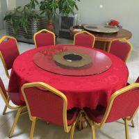 华盈供应带电磁炉的餐桌转盘价格 钢化玻璃酒店餐桌转盘