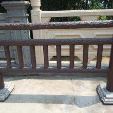 四川绵阳驰升市政工程栏杆 水泥河堤仿木栏杆 仿木护栏