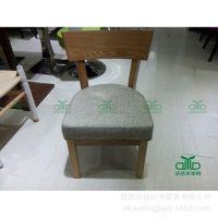 厂家定做实木水曲柳餐椅 软包坐垫简约椅子现代时尚餐椅 质量保证