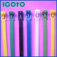 厂家供应 彩色塑料扎带 8*250mm活扣尼龙扎带 可反复使用扎带