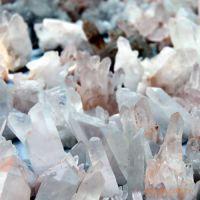 天然水晶 水晶原石 厂家直销  白水晶晶簇  桑拿石 装潢材料