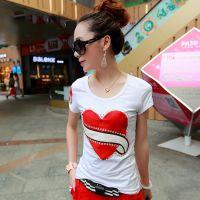 2015夏季新款时尚女式韩版圆领修身百搭T恤打底衫潮