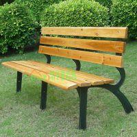 幽之腾 户外公园座椅 阳台双人防腐木长椅子休闲铁艺长条椅长凳
