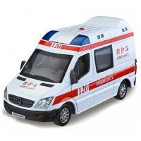 彩珀奔驰120救护车警车1:32声光版回力合金汽车模型89458/598