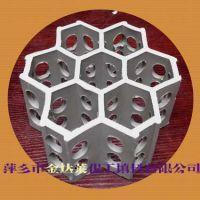瓷质规整六棱组合环填料_耐酸全瓷六棱孔环【厂家萍乡金达莱】