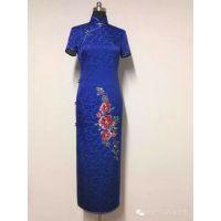 旗袍如酒 岁月静好 真丝旗袍订制品牌利特豪尔 量身订做 纯手工缝制