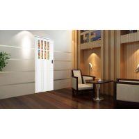 塑料门 塑胶门 推拉门 PVC折叠门 室内门 白色
