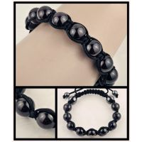 敦煌/易趣/速卖通外贸精品货源手工编制简约时尚黑色琉璃珍珠手链