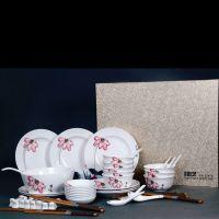 供应餐具套装 香满蒲塘 荷花餐具50头 优质陶瓷餐具套装