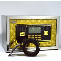 酷盾不锈钢保险柜家用办公 保险箱小型迷你电子20保管箱报警特价