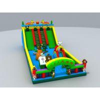 充气玩具滑滑梯 熊出没玩具滑滑梯城堡 卡通运动充气跳跳床游乐园