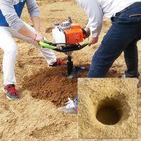 云南潾钰奇高效率地钻机 手提式挖坑机 山地打坑机 正品四冲程