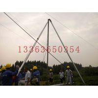 诺达霸州生产铝合金立杆机 10米-18米 三角起杆器