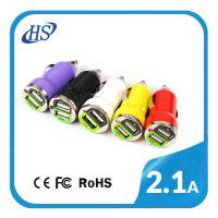 双USB车充5V足3.1A 可同时充IPAD-手机双USB车载充电器