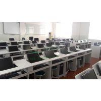 多媒体驾校考试桌 培训学校翻转电脑桌 板式简约