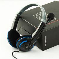 电脑耳麦 耳机ET-490 头戴式游戏语音 重低音环绕效果 时尚 批发