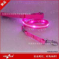 宠物安全带 LED牵引带 夜行遛狗的必备安全牵引绳