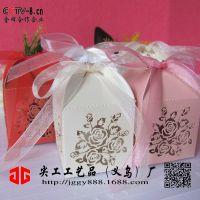 厂家欧式3D激光 糖果盒镂空喜糖盒镂空果糖盒玫瑰包装礼盒纸盒