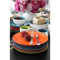 正品外贸出口欧式瓷器餐具套装陶瓷碗盘八件套装餐饮用具绿色款