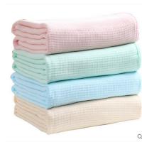 供应批发宏春幅宽150cm棉质经编染色毛巾被
