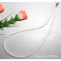 [意贝]纯白色珊瑚项链短款女 高档时尚百搭毛衣链服装配饰 礼品