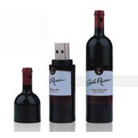 U盘厂家批量供应塑胶材质的拉菲红酒瓶U盘4/8GB 【3年保修】