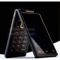J2013年三星W999安卓4.0 双3.5英寸双卡双模双核四线智能翻盖手机