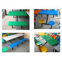 江门学生食堂餐桌椅 江门四人餐厅餐台 江门不锈钢连体餐桌椅