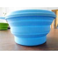 诺亿硅胶碗伸缩饭碗出国旅行餐具便携硅胶折叠碗微波炉密封饭盒