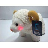 毛绒玩具厂家发光可爱小羊短毛绒玩具专业定制企业礼品