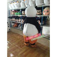 绿和卡通外贸出口功夫熊猫绿和卡通人偶服装穿人行走人偶服饰动物人偶道具