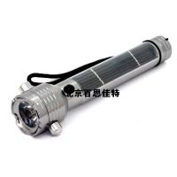 xt16871带安全锤太阳能铝合金手电筒